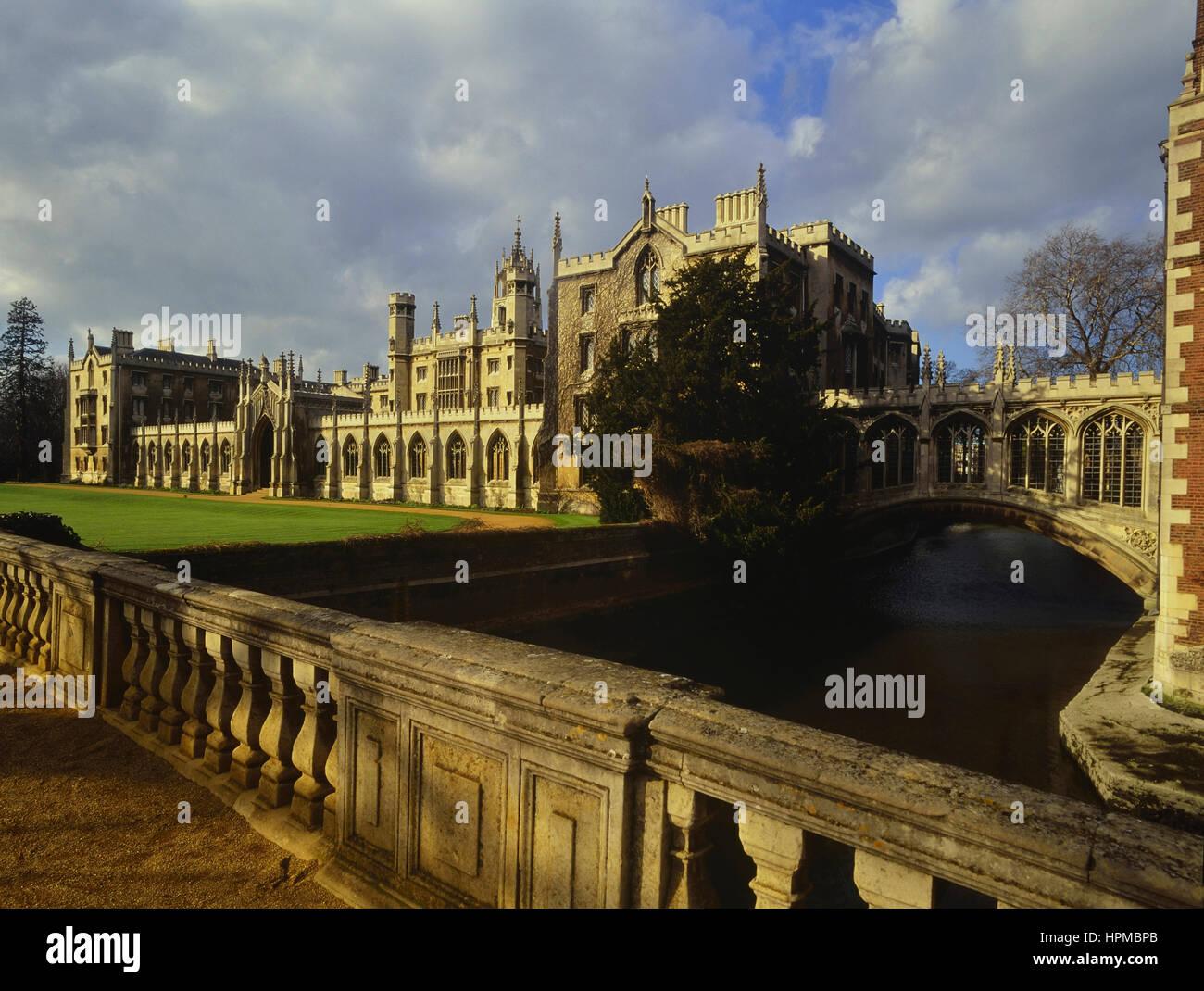Bridge of Sighs,, St John's College. Cambridge. England. UK - Stock Image