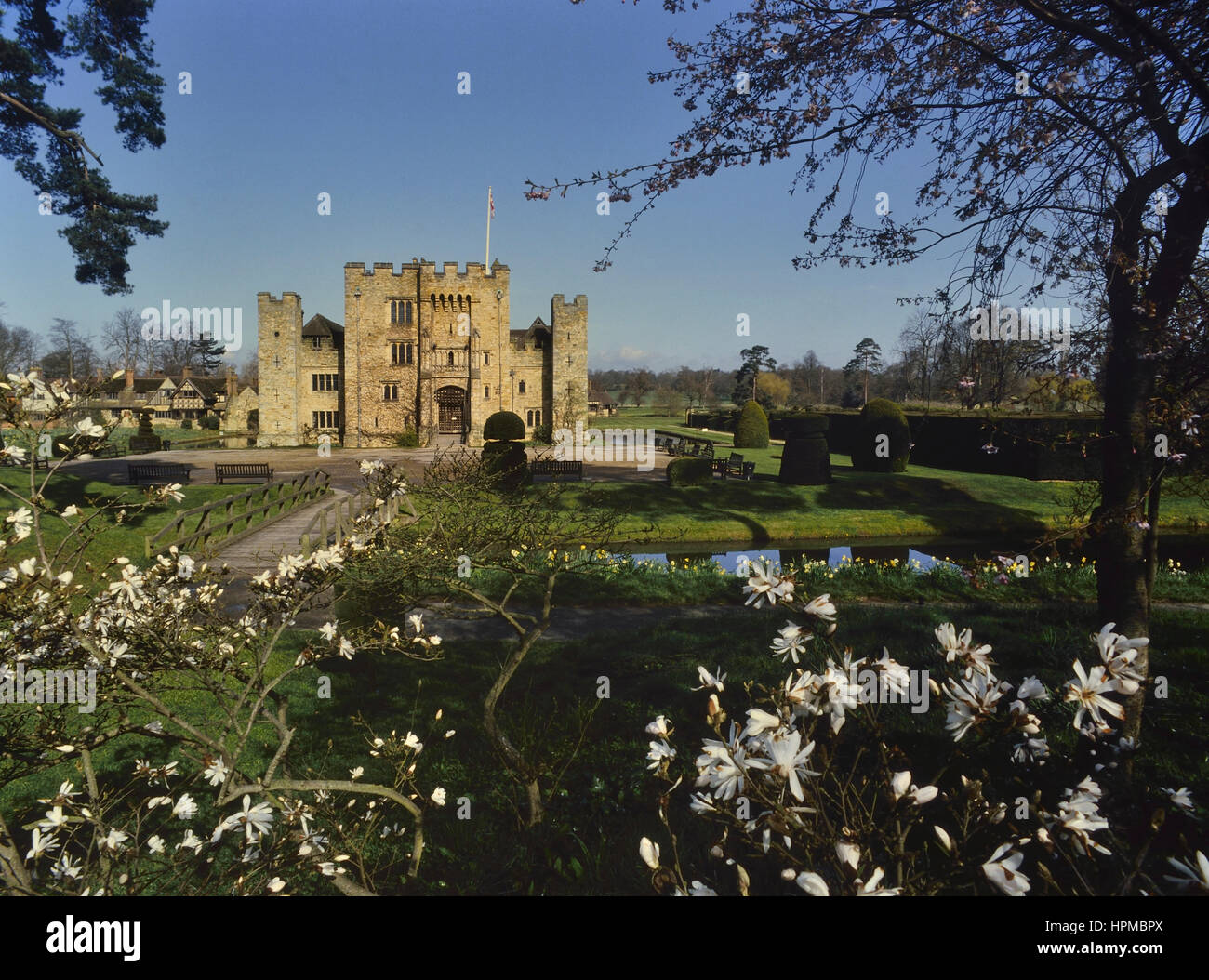 Springtime at Hever Castle. Kent. UK - Stock Image