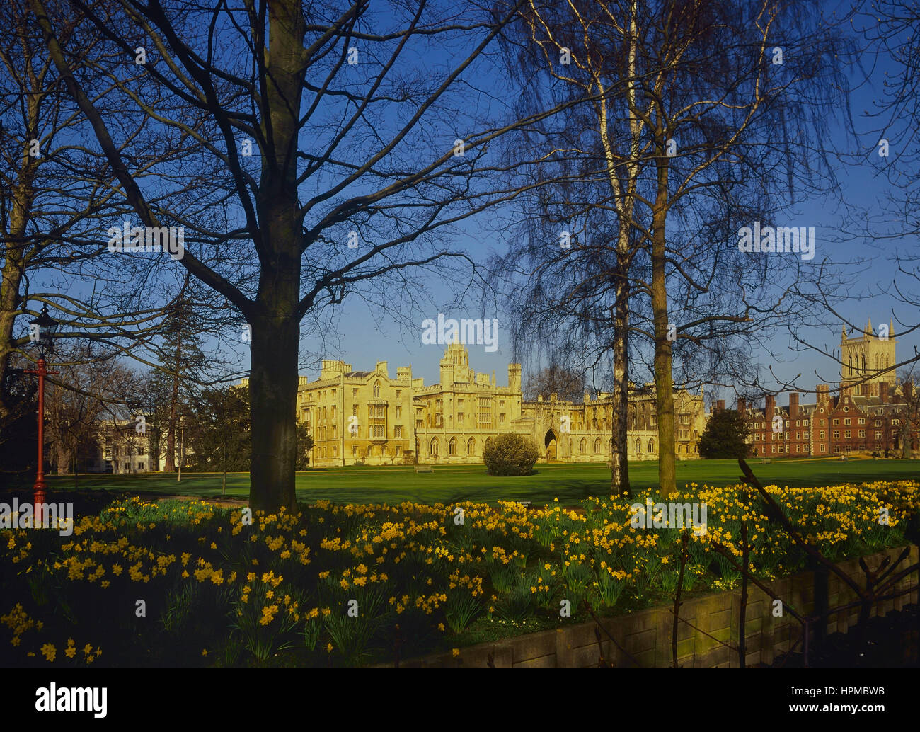 The New Court from The Backs, St John's College, Cambridge, England, UK - Stock Image