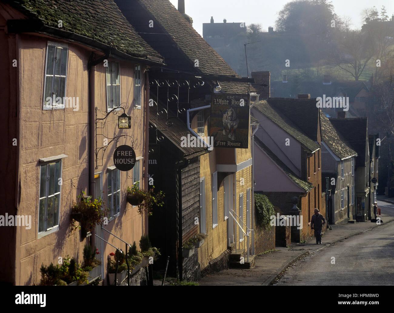 Kersey village. Suffolk. England. UK - Stock Image