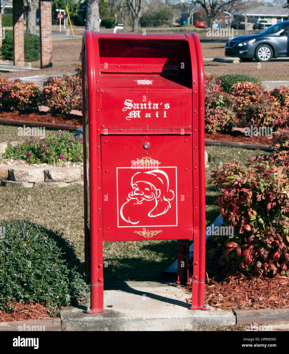 Mailbox in Santa Claus Georgia - Stock Image