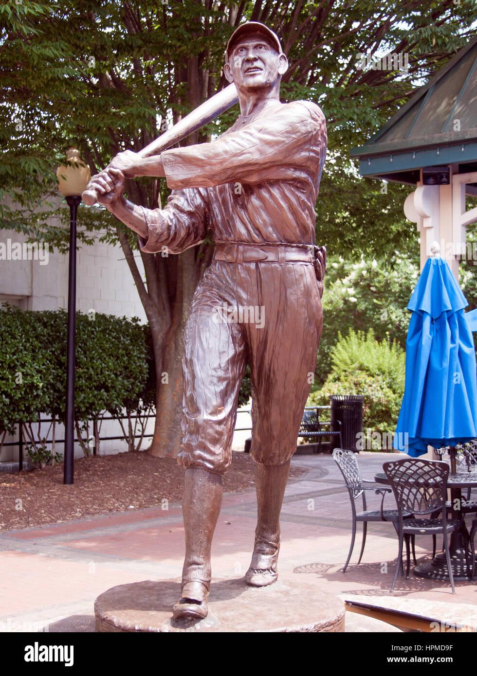 Shoeless Joe Jackson Statue in Greenville South Carolina - Stock Image