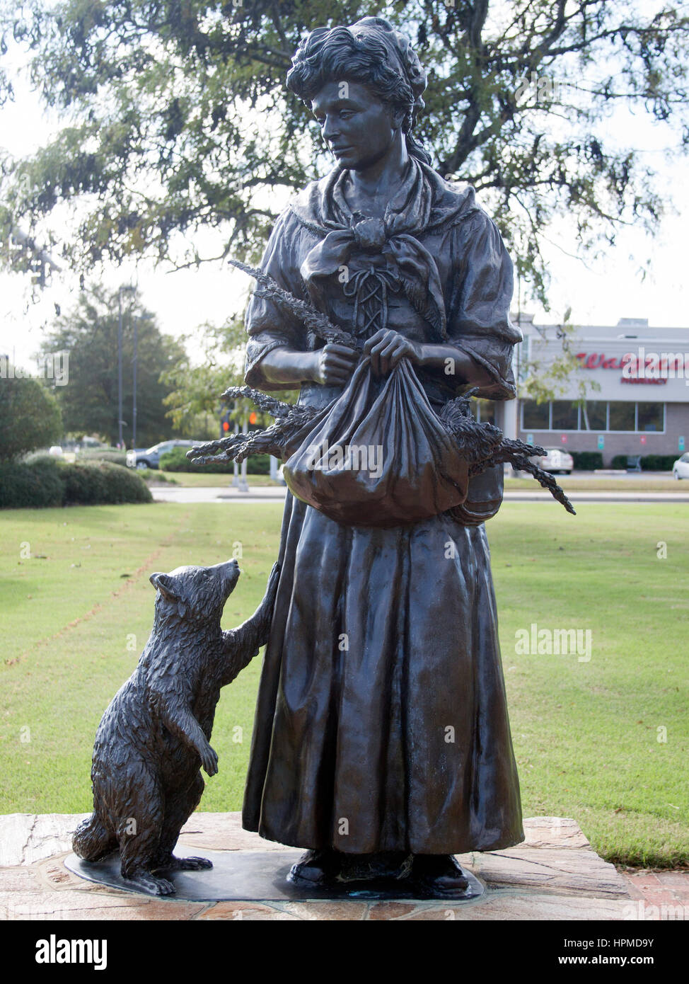 Witch of Pungo Statue in Virginia Beach - Stock Image