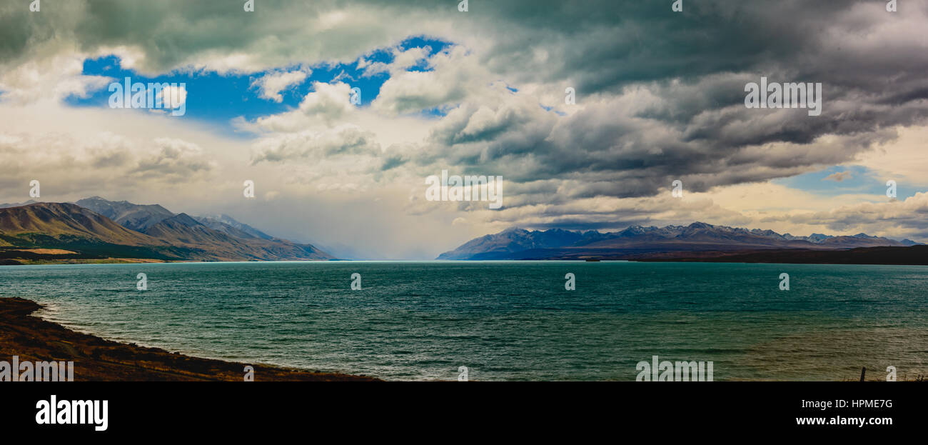 Lake Pukaki, New Zealand - Stock Image