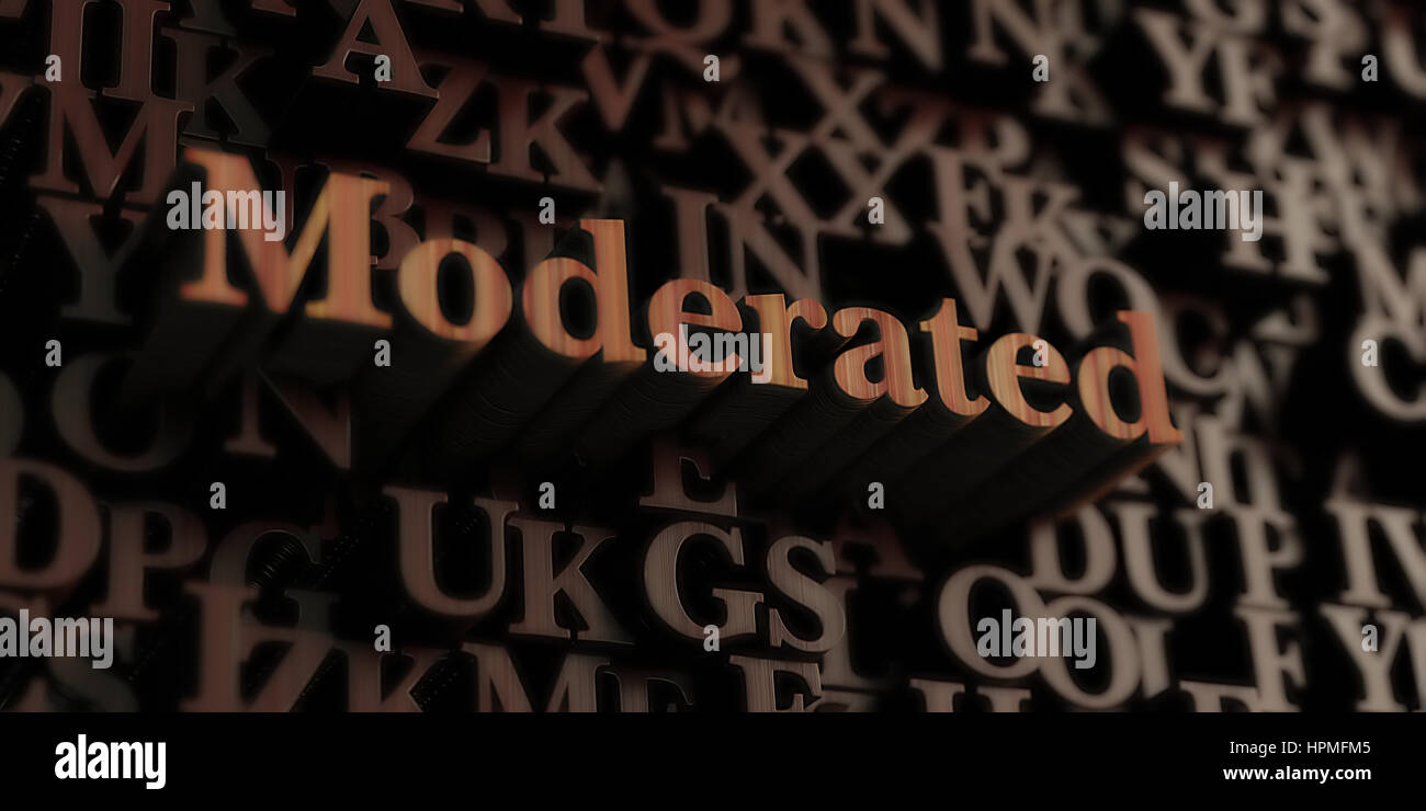 Moderated Wooden 3d Rendered Letters Message Can Be Used For An Online Banner
