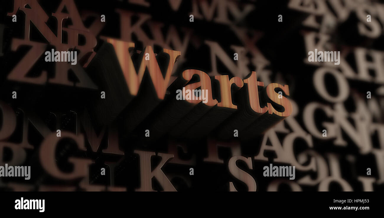 Warts Wooden 3d Rendered Letters Message Can Be Used For An Stock Photo Alamy