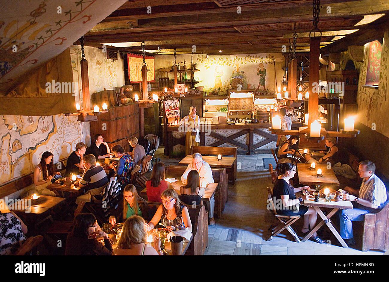Olde Hansa restaurant ,1 Vana Turg,Tallinn, Estonia - Stock Image