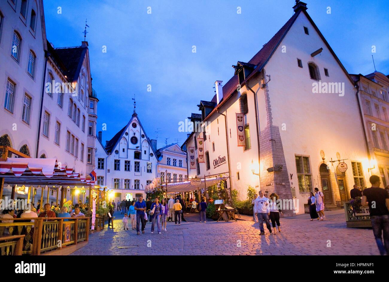 Vana Turg street,Tallinn, Estonia - Stock Image