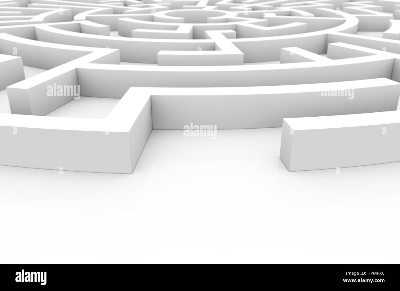 difficulty concept: labyrinth render - Stock Image