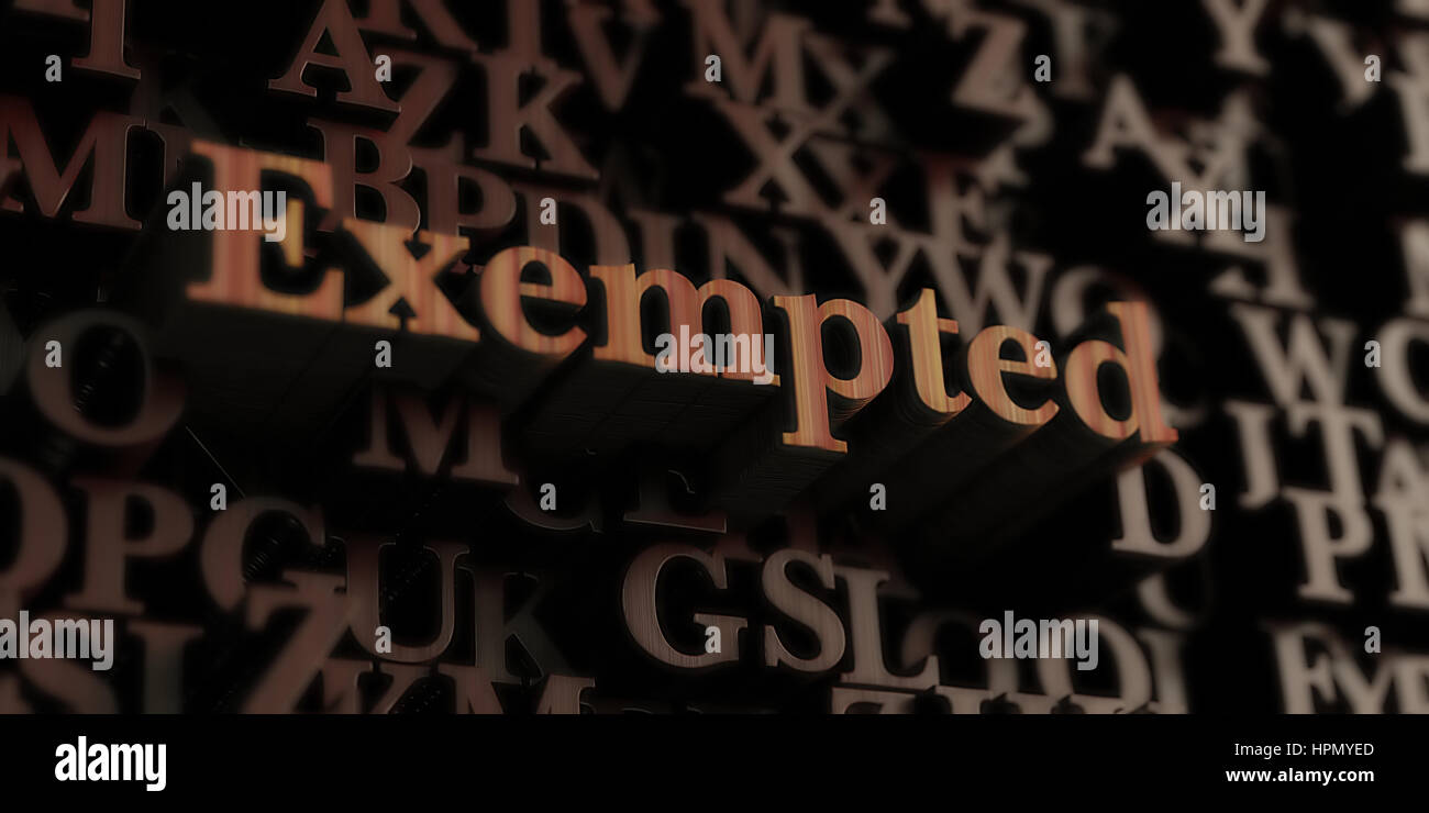 Exempted - Wooden 3D rendered letters/message.  Can be used for an online banner ad or a print postcard. - Stock Image