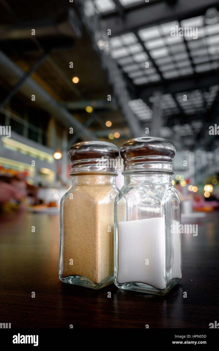 Pepper and salt pots - Stock Image