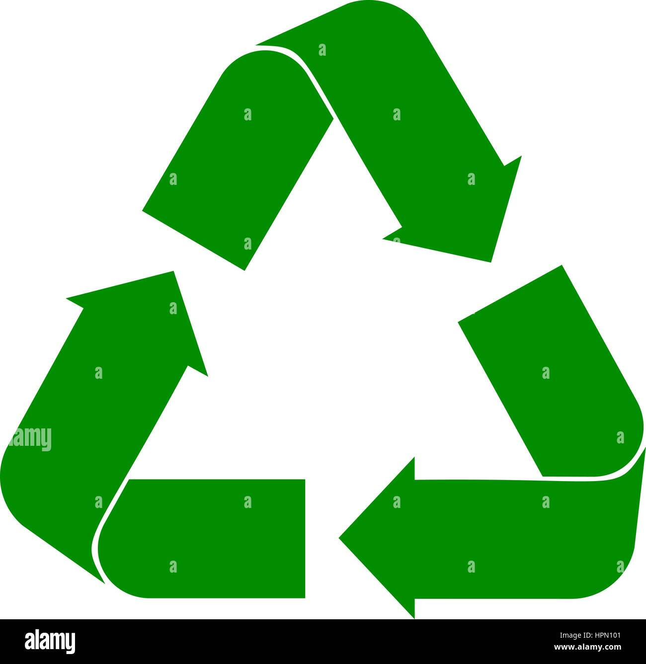 Recycle Symbol Vector Green Cycle On A White Background Recycle