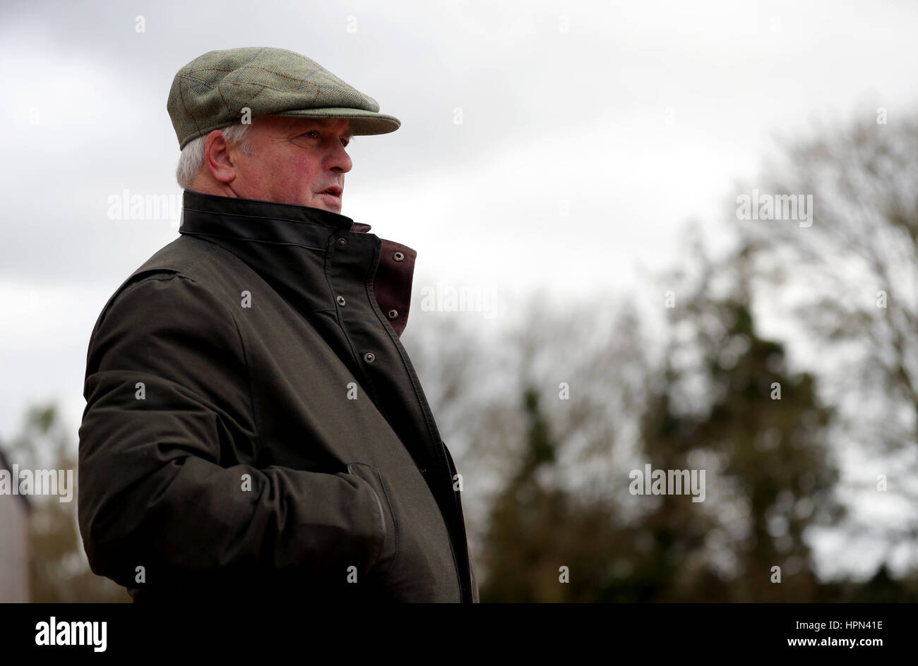 Trainer Colin Tizzard during a stable visit to his stable at Milborne Port, Dorset. Stock Photo
