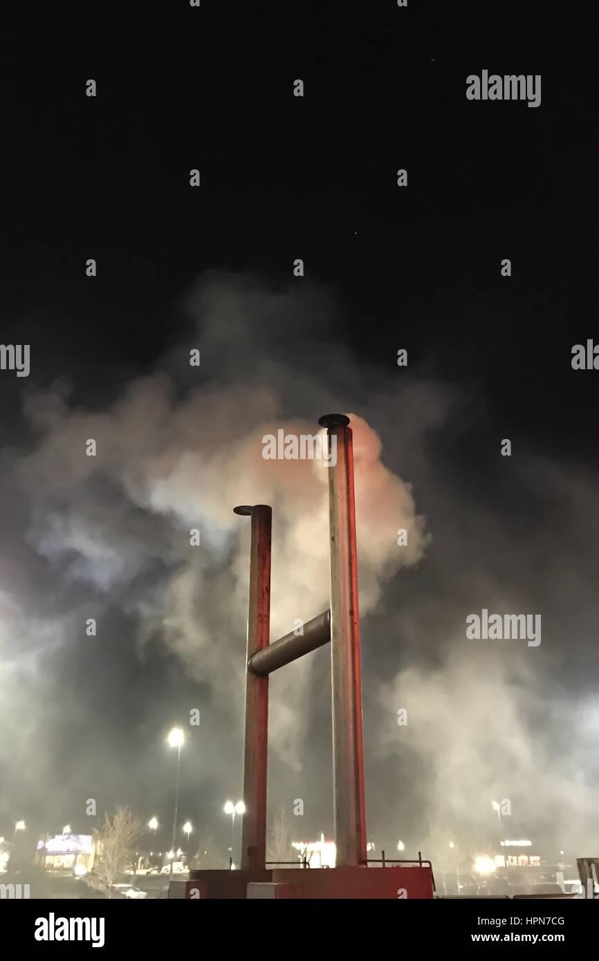 Smoke stack - Stock Image