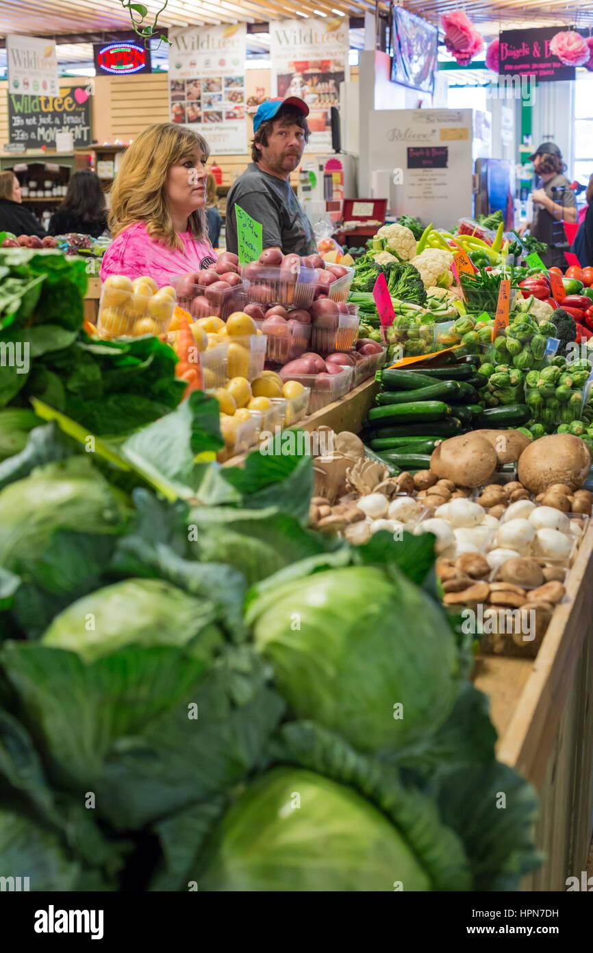 Flint, Michigan - The Flint Farmers Market. - Stock Image