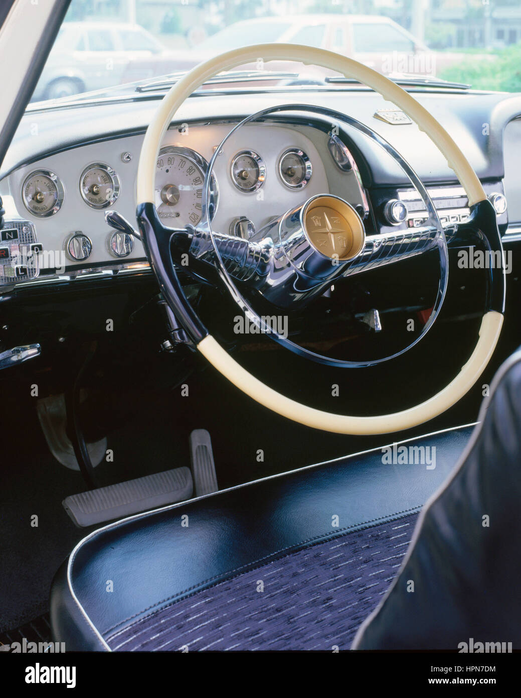 1956 De Soto Firedome dashboard Stock Photo