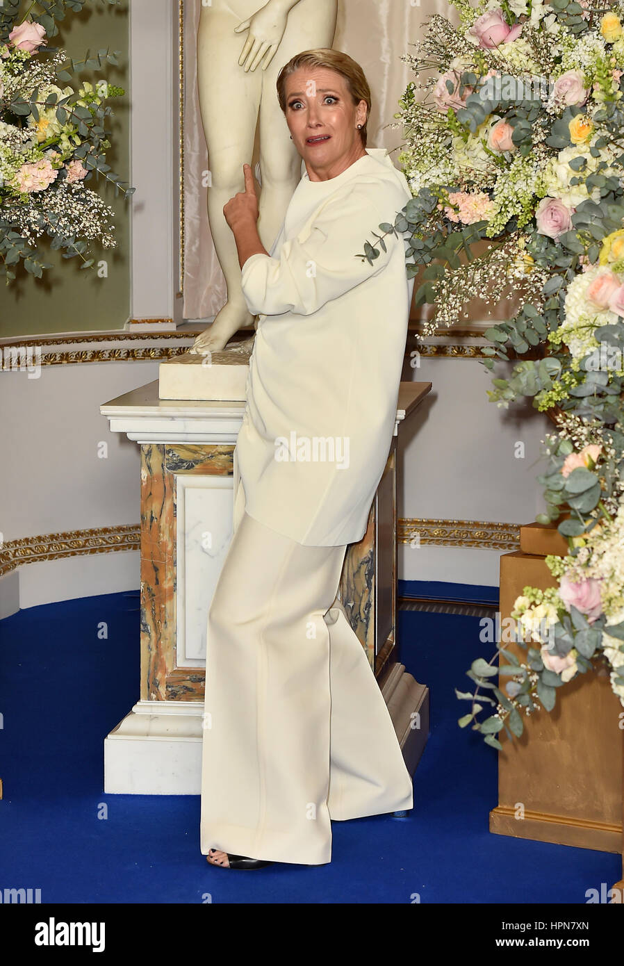 Emma Thompson Attending The Beauty And The Beast Launch Event At Stock Photo Alamy