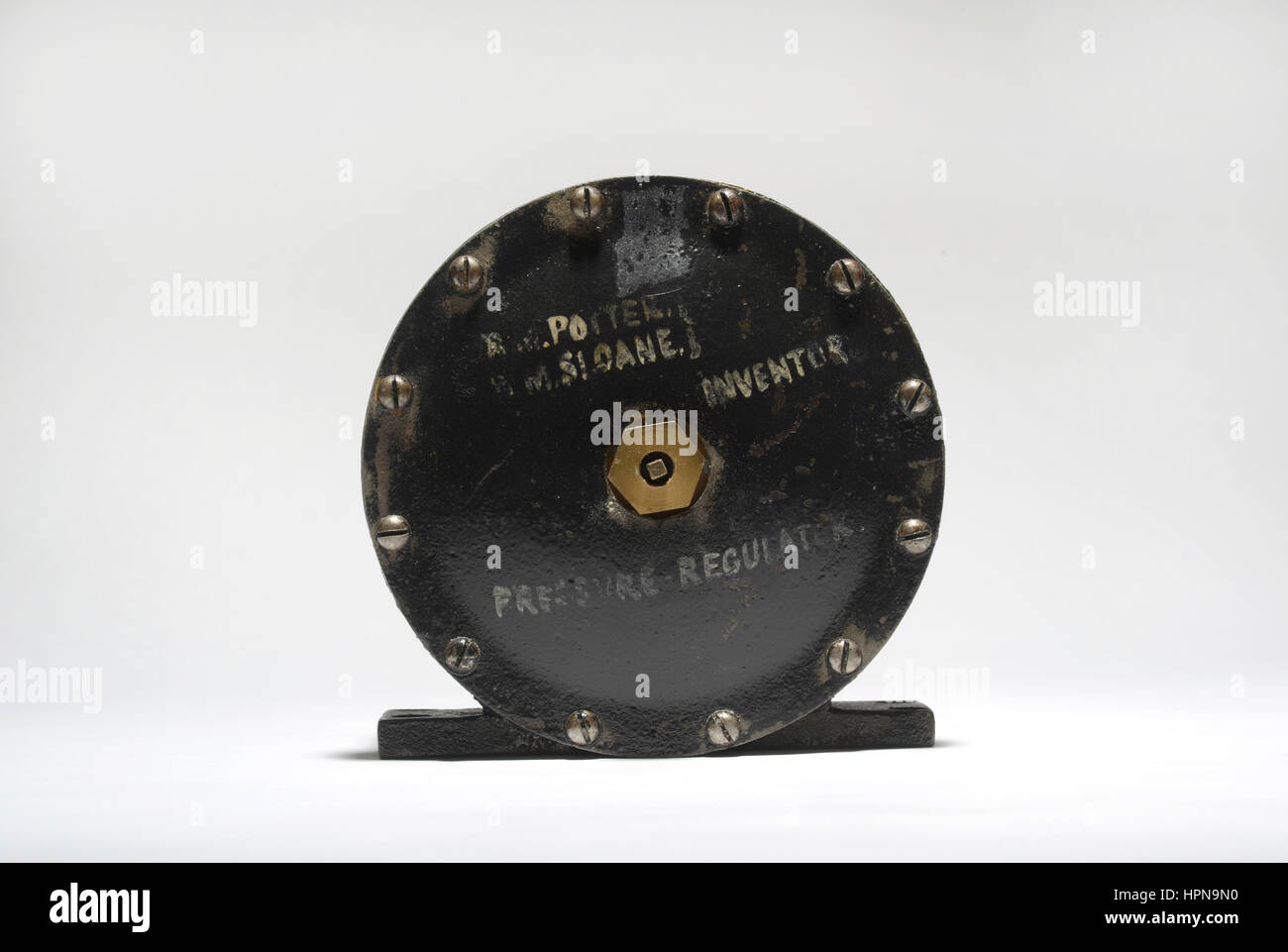 Patent model for Improvement in Pressure-Regulators of Governors.  Patent #209,192 awarded to R. M. Potter & - Stock Image