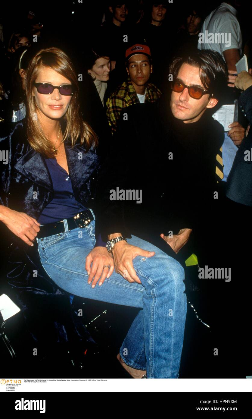 c6212270c8199 Elle Macpherson and Tim Jeffries at the Nicole Miller Spring Fashion Show