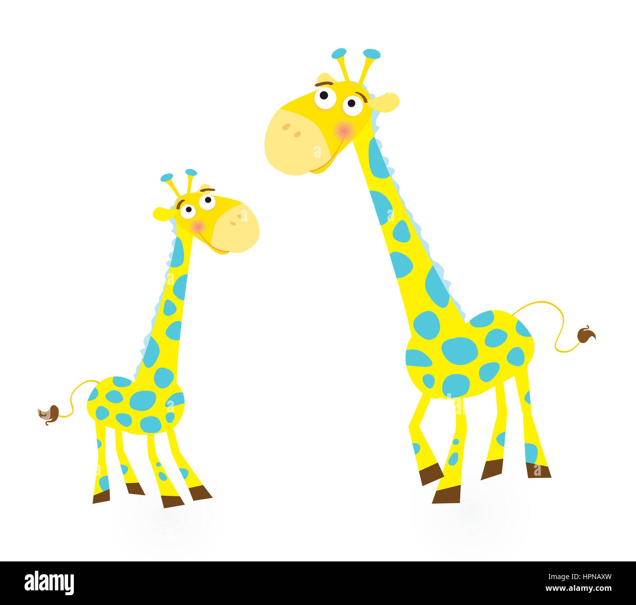 a737be60633 4639949 - giraffe family. vector illustration of giraffe mother and son.  see similar pictures