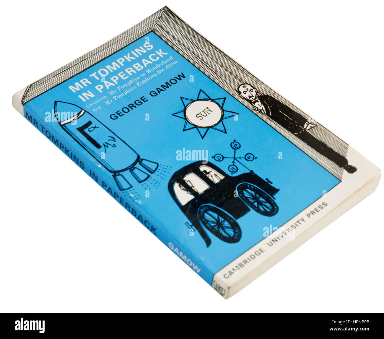 Mr Tompkins in paperback, which includes Mr Tompkins in Wonderland, a book on Particle Physics and Quantum Theory - Stock Image