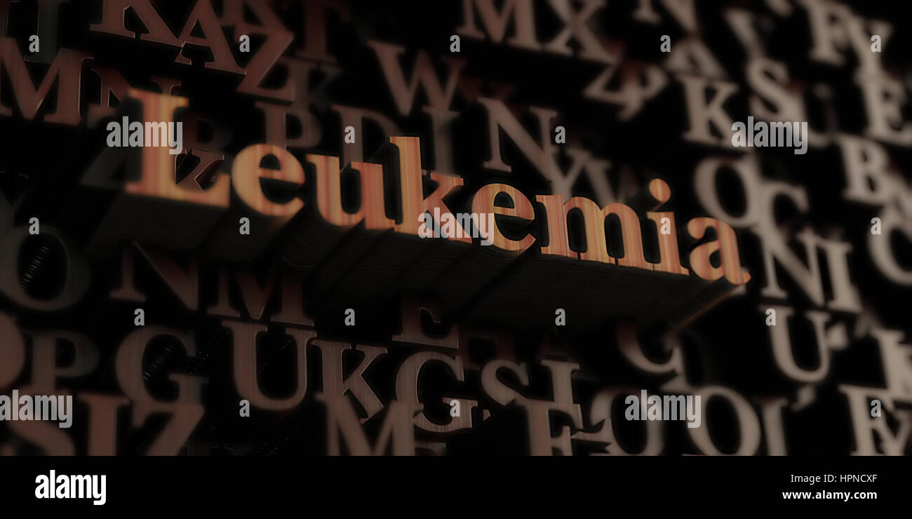 Leukemia - Wooden 3D rendered letters/message.  Can be used for an online banner ad or a print postcard. - Stock Image