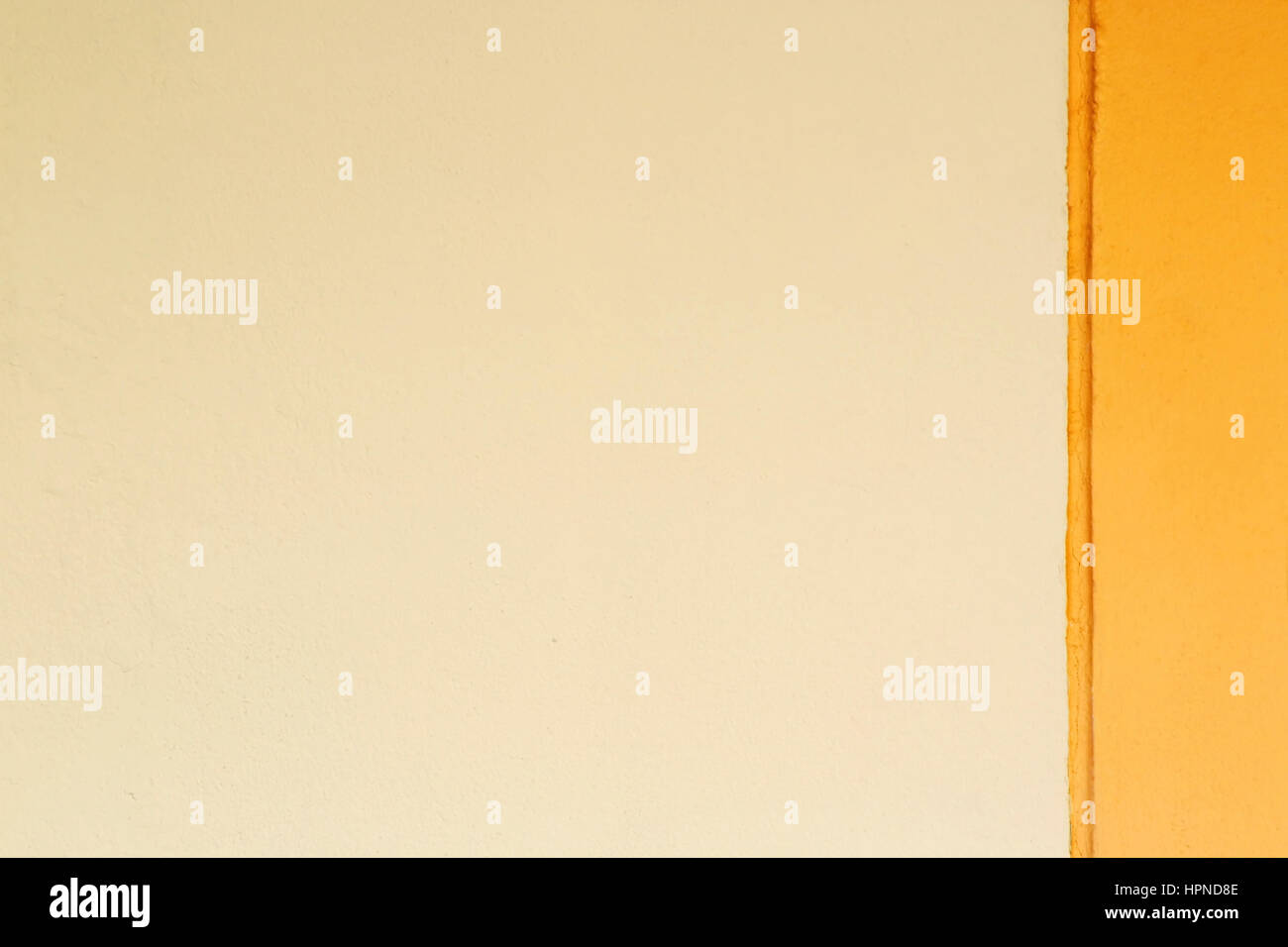 Two Tone Wall For Wallpaper or Background Stock Photo