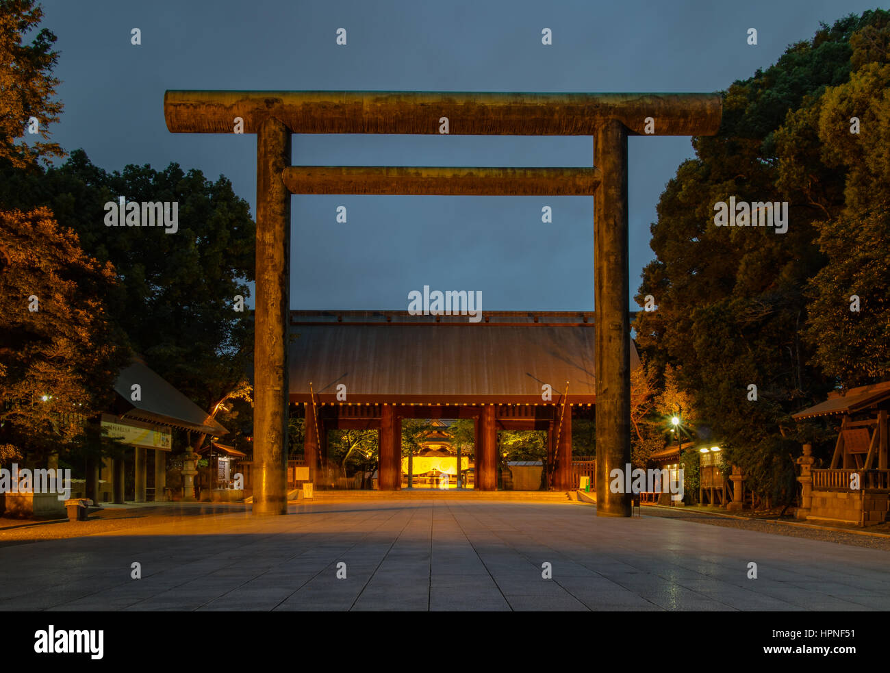 Yasukuni Shrine, often a controversial topic in Asian politics. - Stock Image
