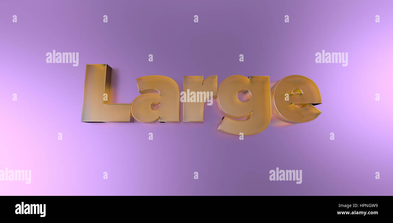 Large - colorful glass text on vibrant background - 3D rendered royalty free stock image. - Stock Image
