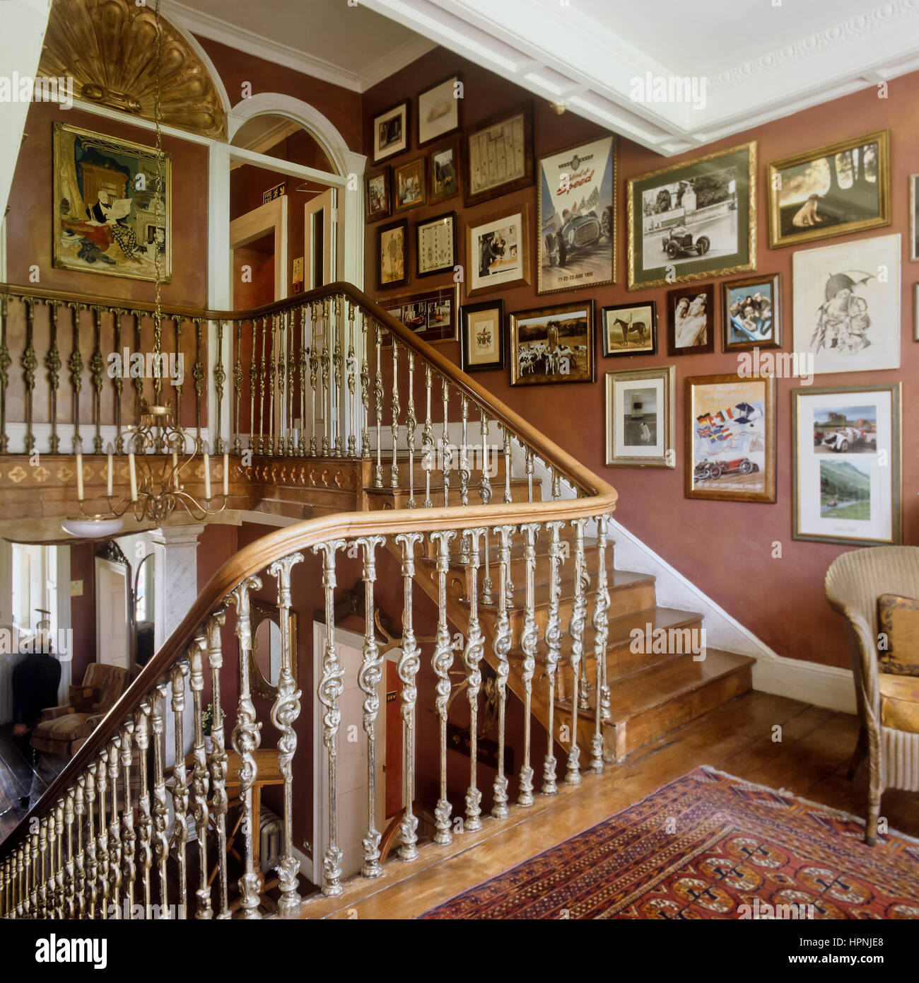 Etonnant A Victorian Staircase.   Stock Image