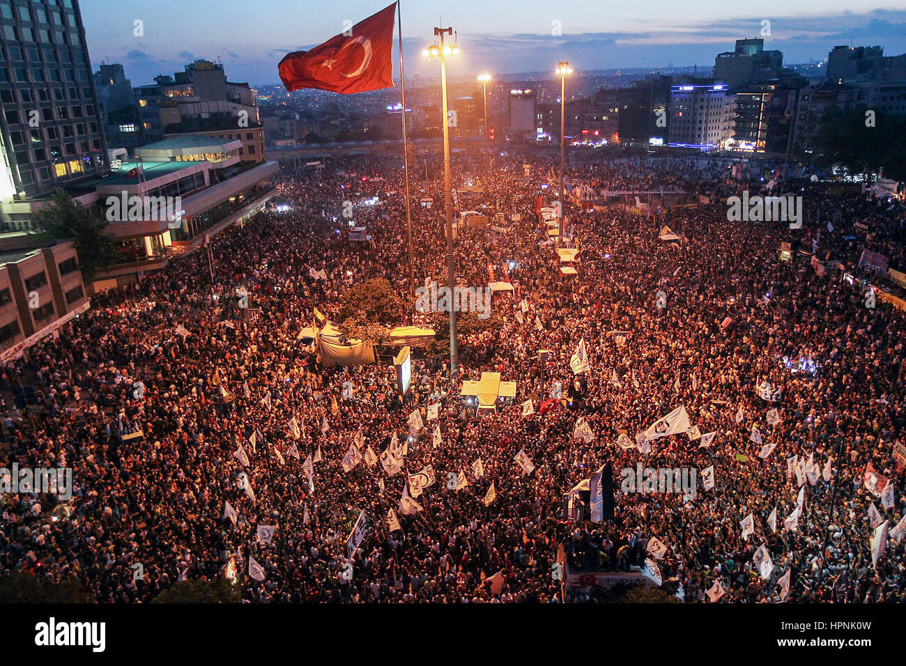 Gezi Park Protests. June 5, 2016, Istanbul. A wave of demonstrations and civil unrest in Turkey began on 28 May - Stock Image