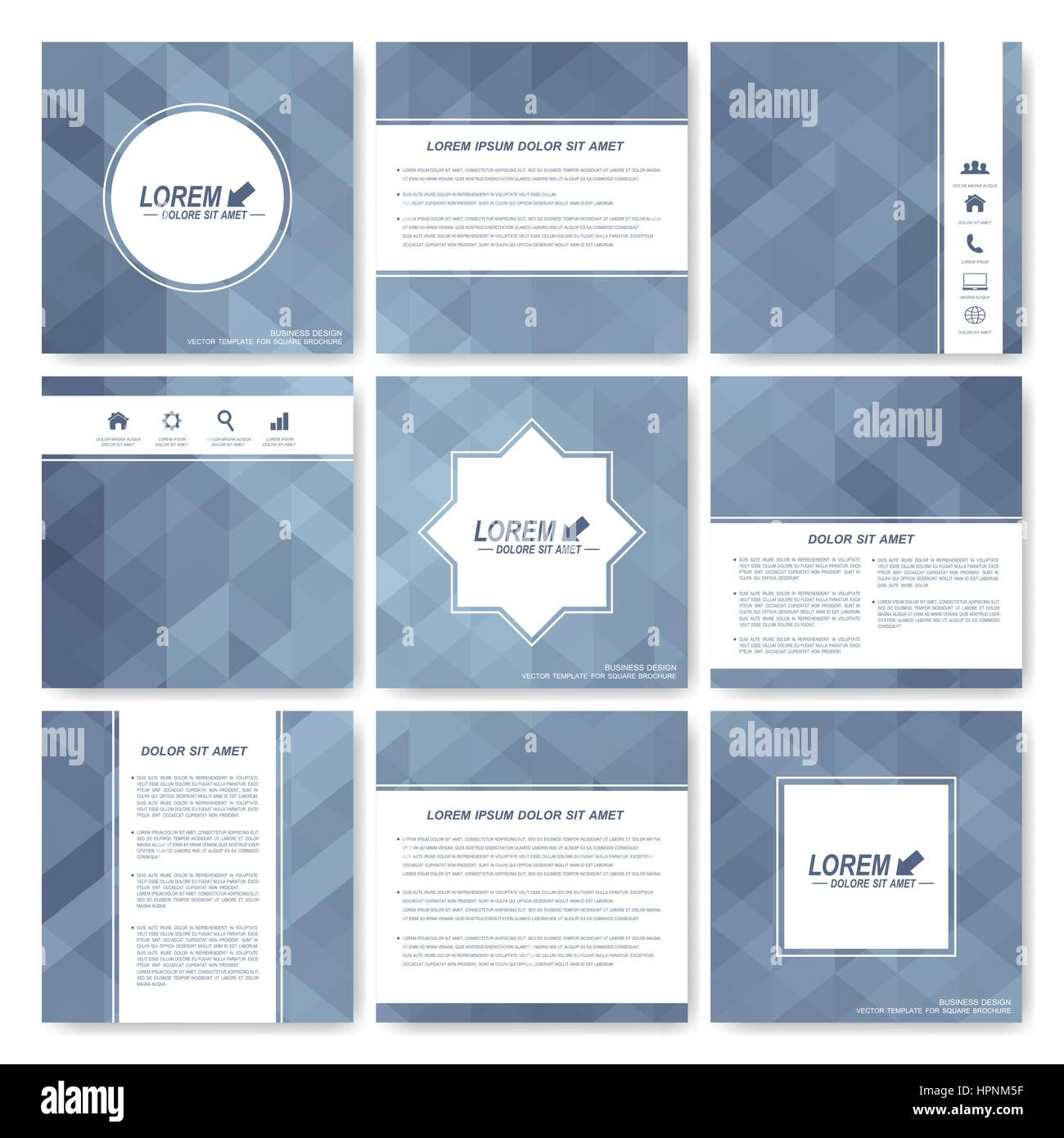 grey set of brochure square brochure template business science medicine and technology design gray background card cover layout with grey triangles