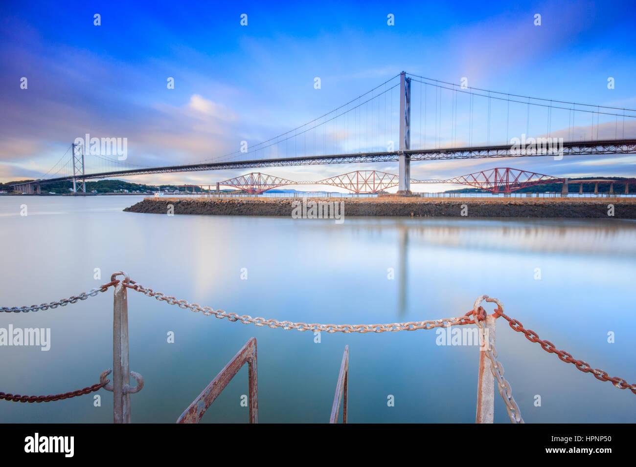 Forth Road Bridge Long Exposure - Stock Image