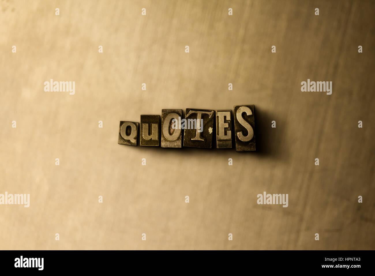 Metal Quotes Stock Photos & Metal Quotes Stock Images - Alamy