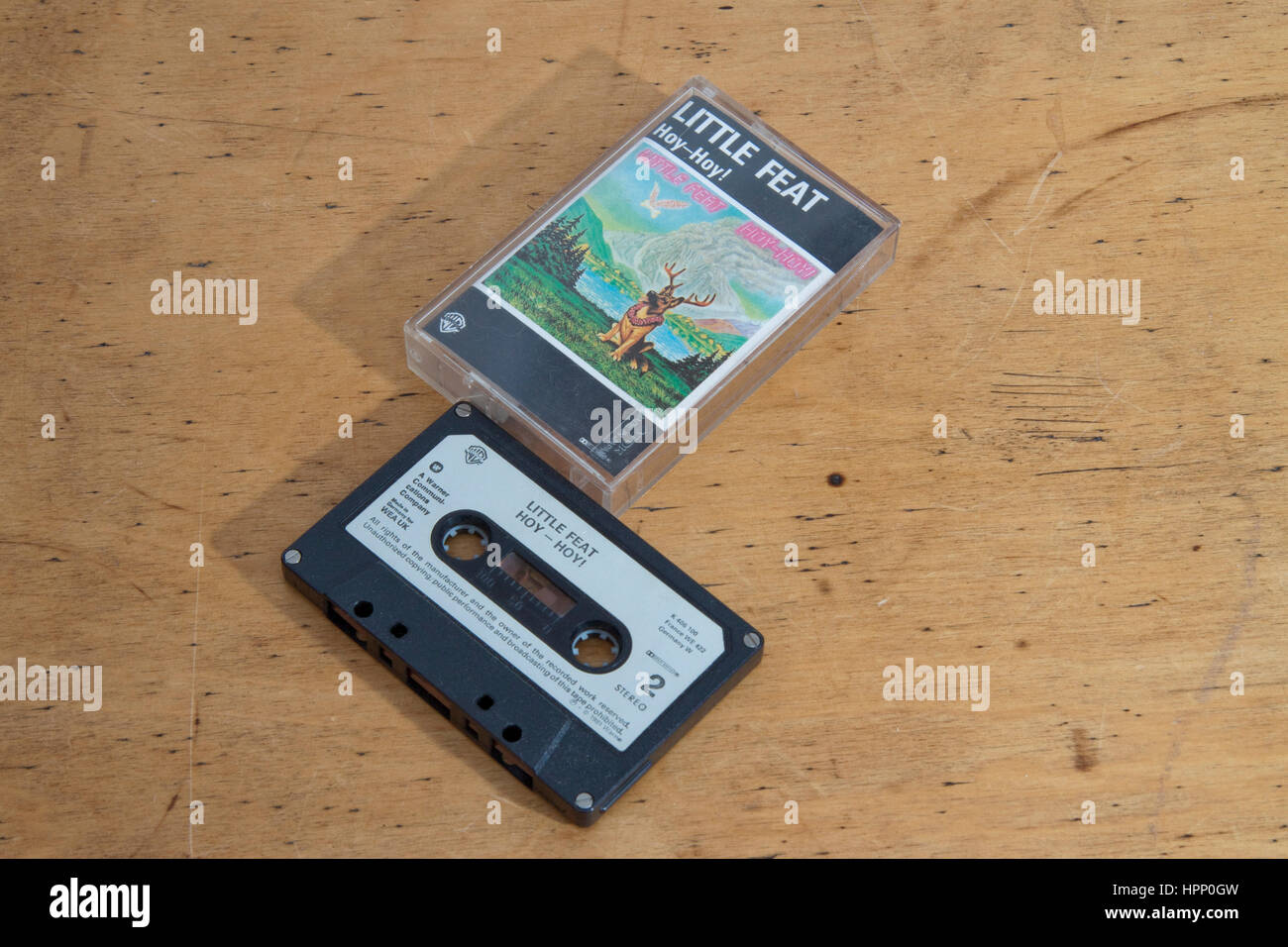Band Little Feat's album Hoy-Hoy! on cassette - Stock Image
