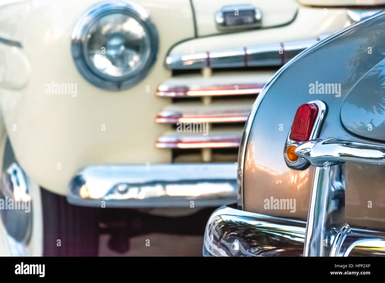 Close Up View of Old Cars Front and Back Stock Photo: 134480270 - Alamy
