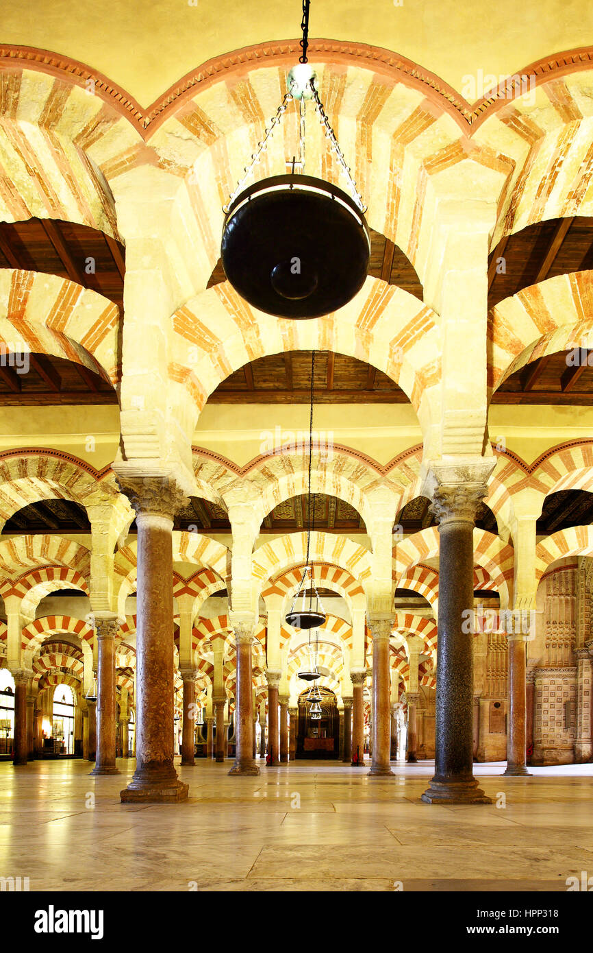 View of The Great Mosque of Cordoba (La Mezquita), Spain - Stock Image
