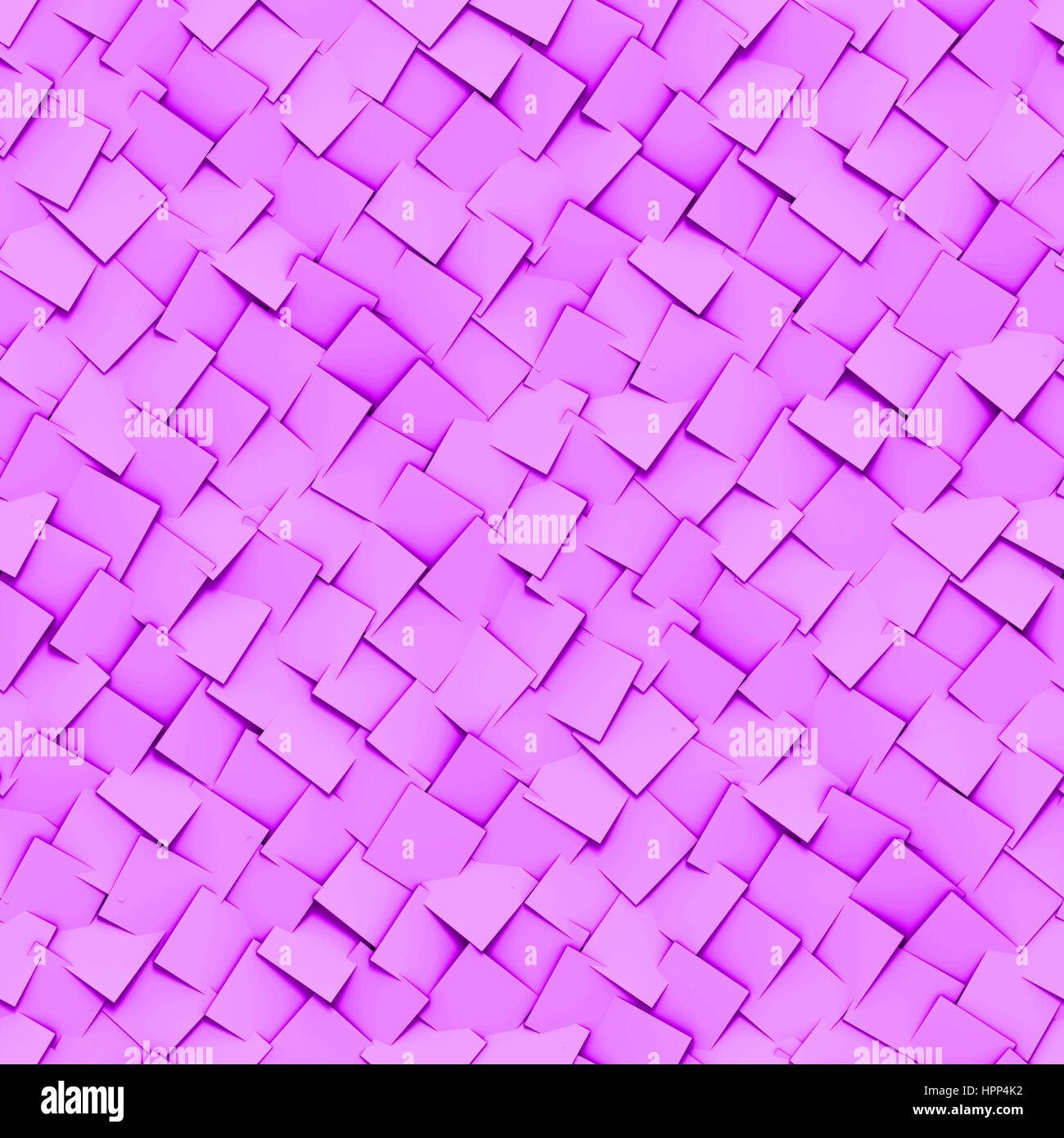 seamless background made of diagonal arranged cubes in shades of purple (3d illustration) Stock Photo