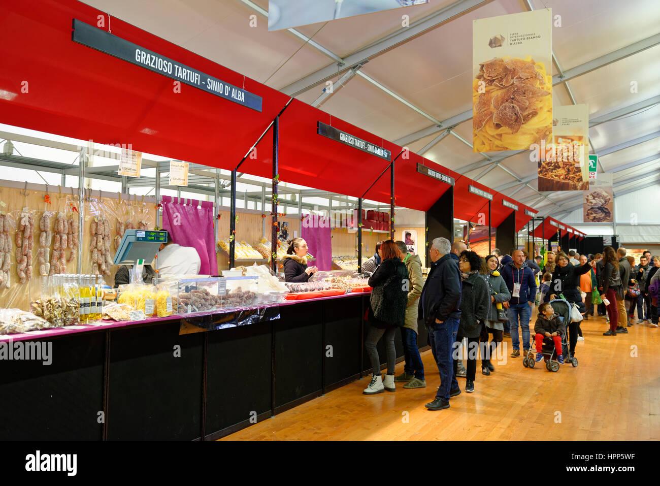 Truffle Fair, Alba County, Piedmont, Italy - Stock Image