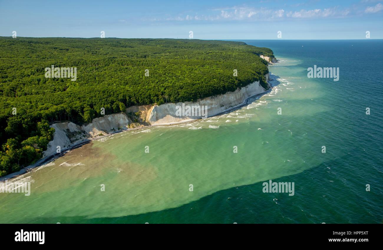 Chalk coast in Sassnitz, Jasmund National Park, Rügen, Baltic coast, Mecklenburg-Western Pomerania, Germany Stock Photo