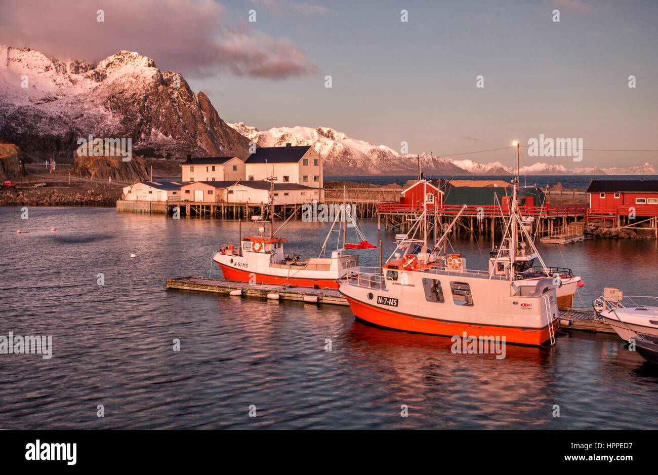 Hamnoy village, Lofoten Islands, Norway, Europe - Stock Image