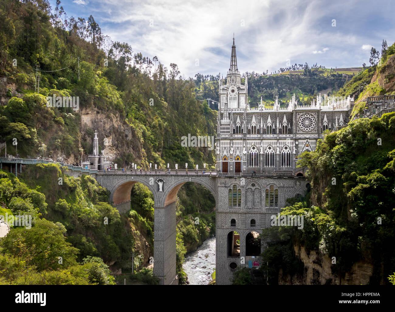 Las Lajas Sanctuary - Ipiales, Colombia - Stock Image