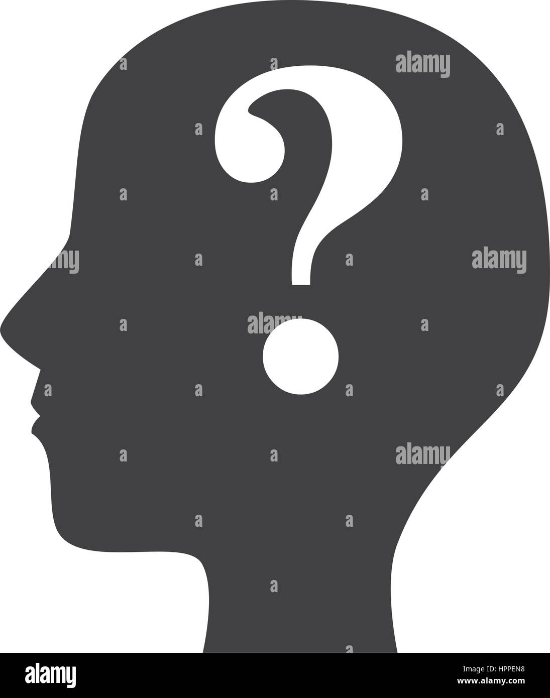 person silhouette with question mark Stock Vector