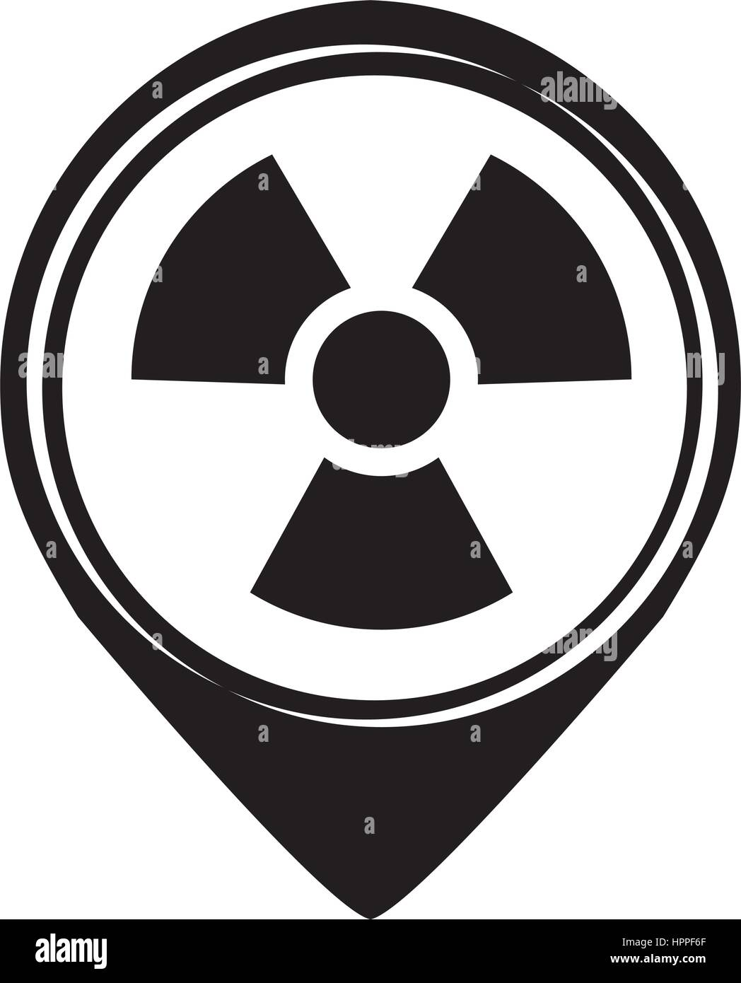 nuclear plant isolated icon - Stock Vector