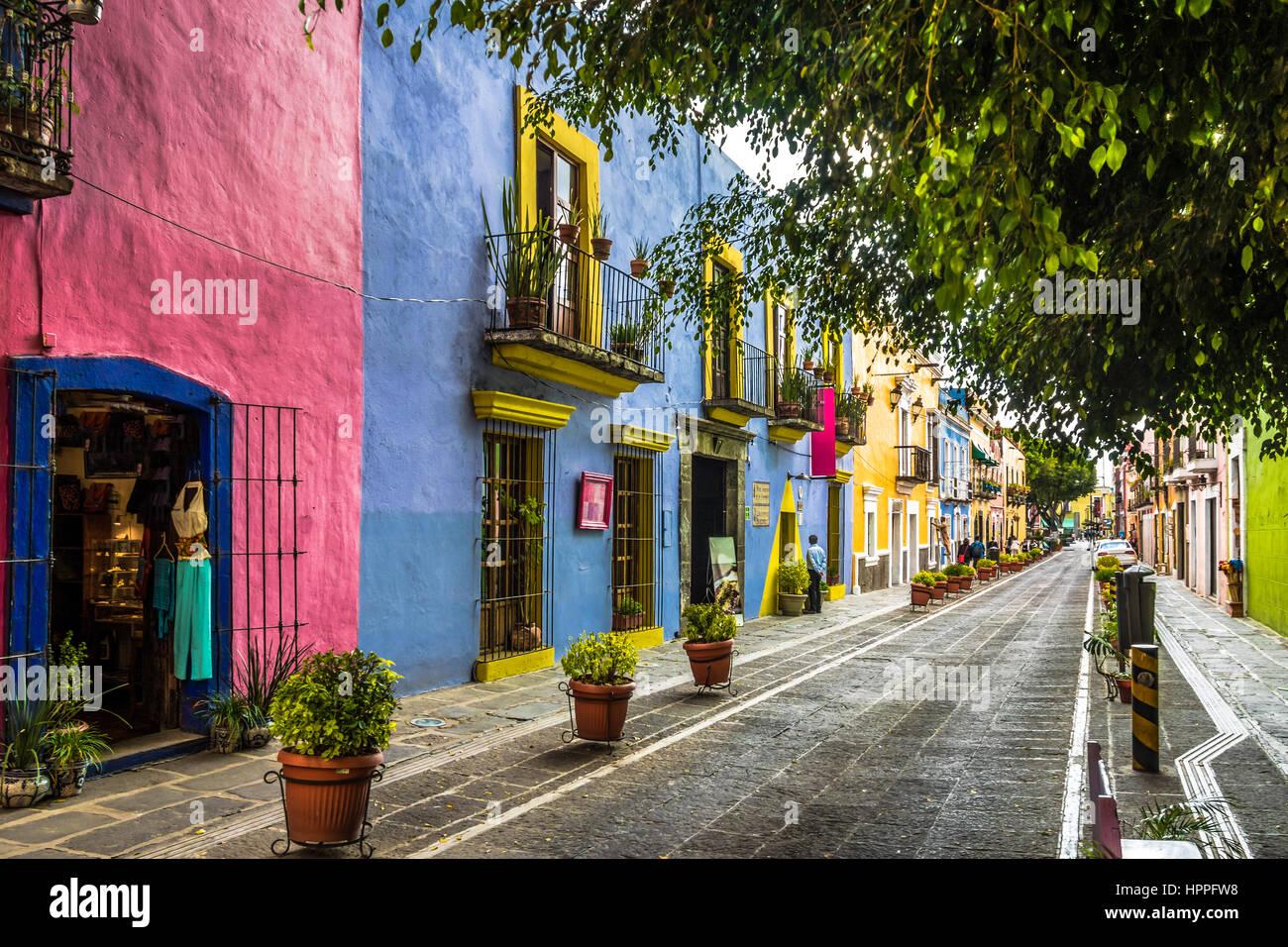 Callejon de los Sapos - Puebla, Mexico - Stock Image