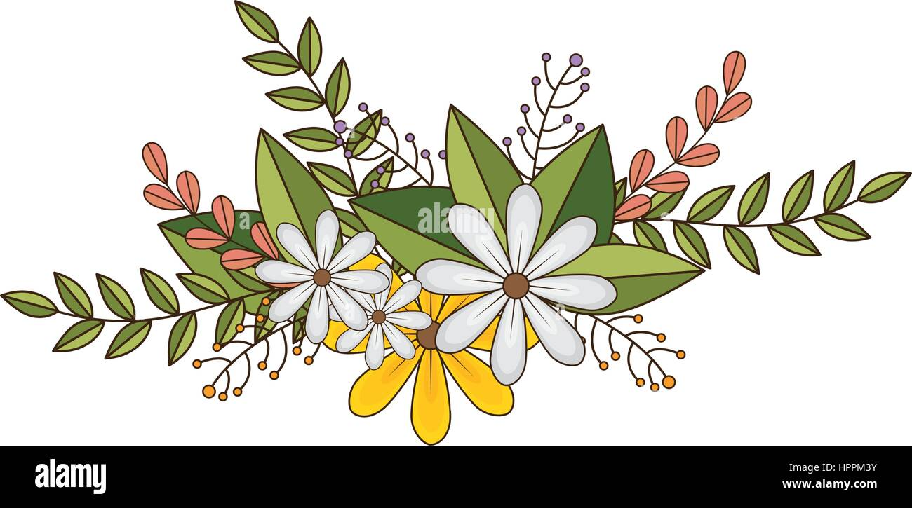 Sticker faded flowers bouquet floral stock photos sticker faded flowers crown floral design with leaves stock image izmirmasajfo