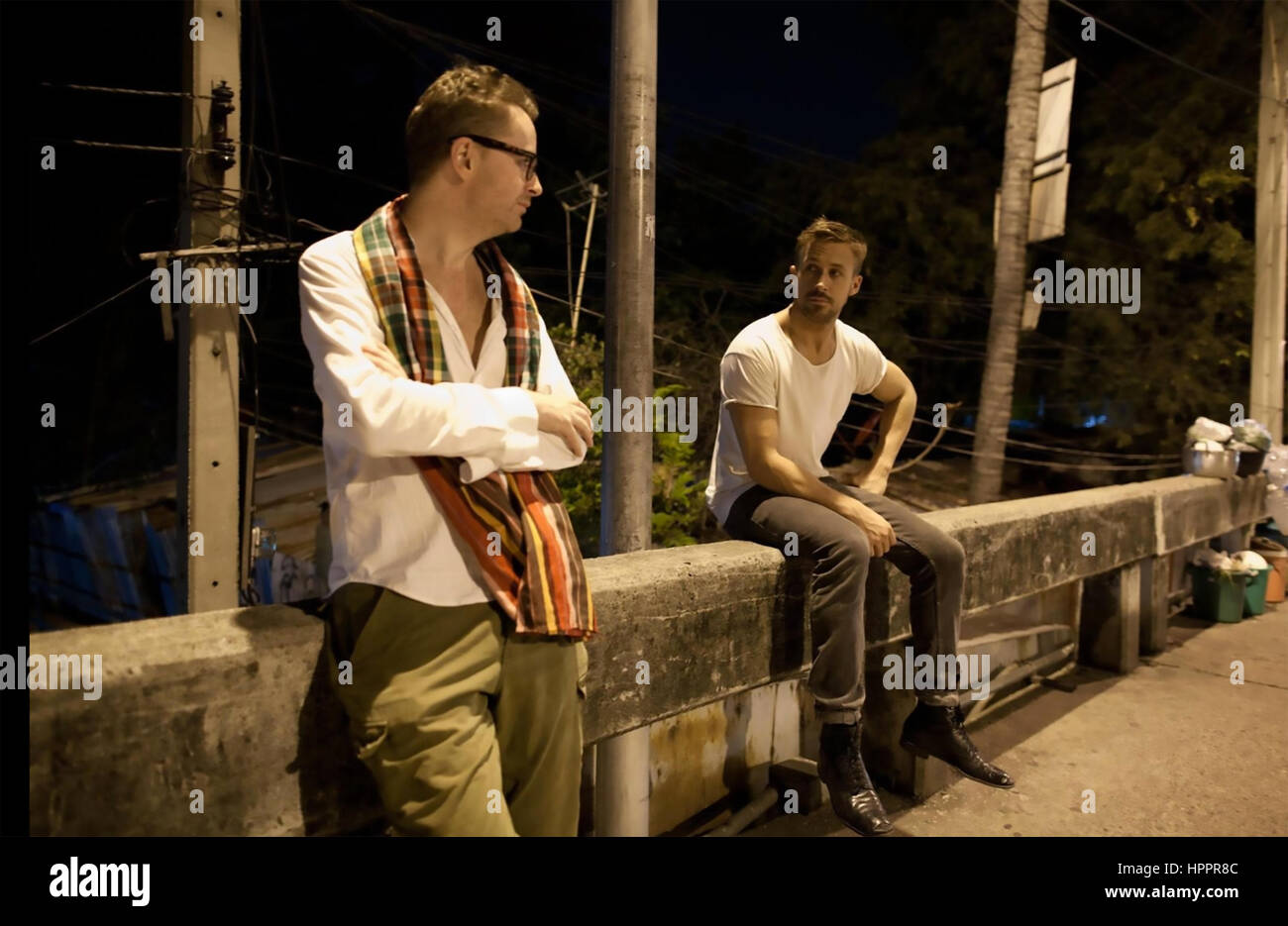MY LIFE DIRECTED BY NICOLAS WINDING 2014 documentary by Liv Corfixen with  Nicolas Refn at left and Ryan Gosling - Stock Image