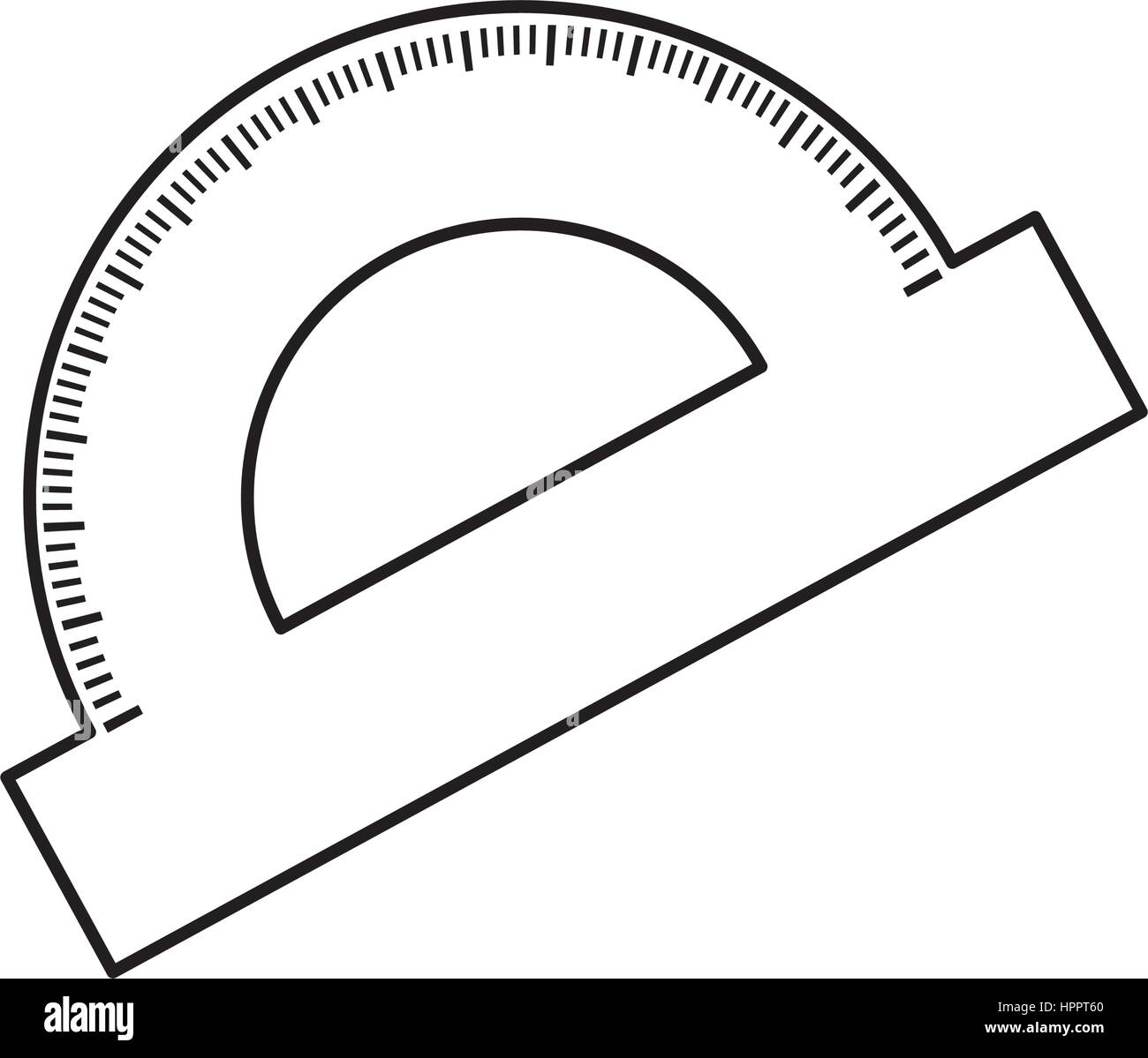 Protractor angle meter - Stock Image