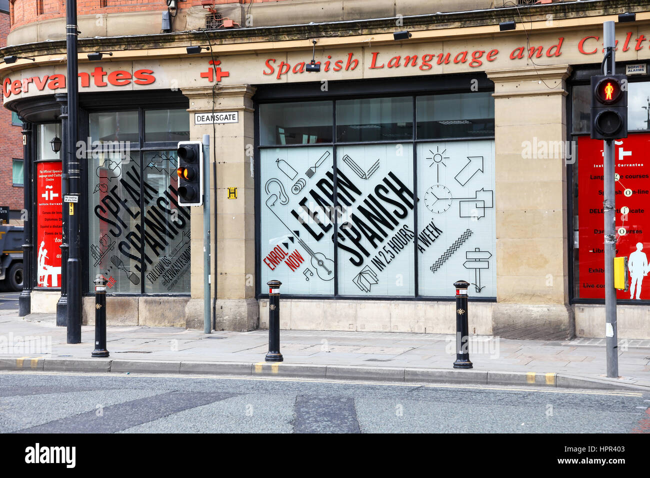 The Instituto Cervantes, the official Spanish Government Centre in Manchester city centre Manchester England UK - Stock Image