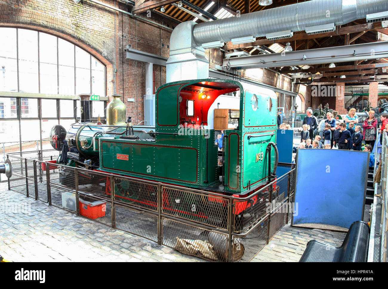 """Tank locomotive """"Pender"""" on display at the Manchester Museum of Science and Industry, Liverpool Road, Manchester, - Stock Image"""